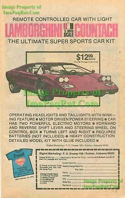 Lamborghini Countach: 1/20 Scale Car Kit: Print Ad!