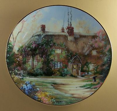 English Country Cottages LARKSPUR COTTAGE Plate Floral