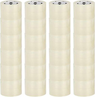 "2.5 mil Clear Carton Sealing Packing Tape 3/"" x 330/' 12 Rolls 72 mm x 110 yds"