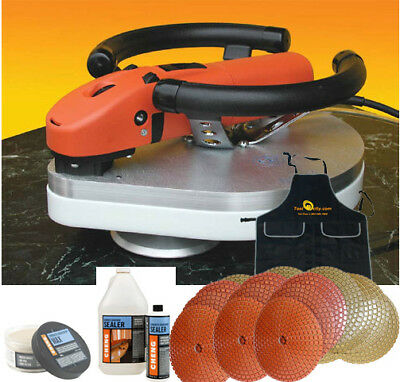 Planetary Polisher Package for Concrete Counter Tops