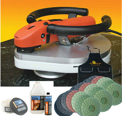 Planetary Polisher Wet Package with Rigid Diamond Pads