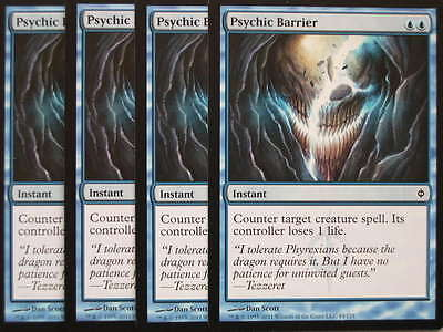 XXX 4x PSYCHIC BARRIER englisch new phyrexia (counter blue) NEARMINT XXX XXX XXX