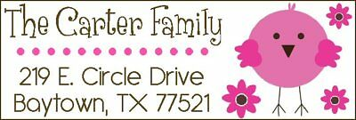 BABY CHICK IN PINK - Return  Address Labels