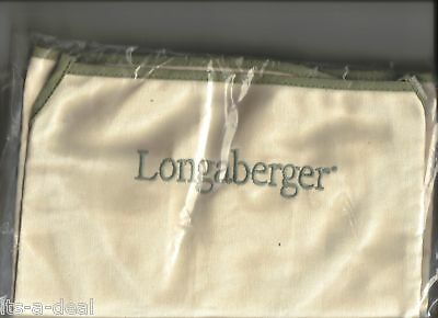 Longaberger Flax Canvas APRON for Cooking or Gardening