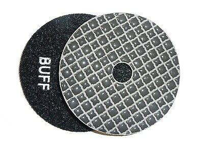 "4"" Shine-Plus Dry Diamond Polishing Pad - Black Buff"