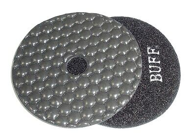 "4"" Monster Dry Diamond Polishing Pad - Black Buff"