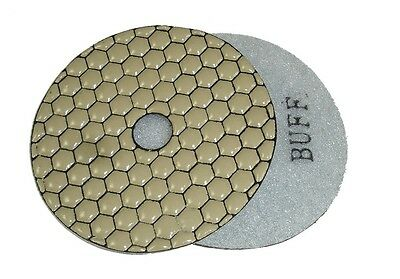 "4"" Monster Dry Diamond Polishing Pad - White Buff"