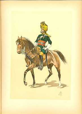GB Bombay Uhlan Officer Lithography Louis Vallet 1891