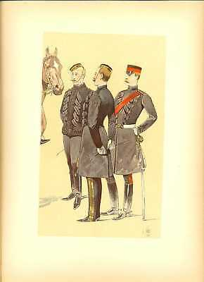 Great Britain Officers Lithography Louis Vallet 1892