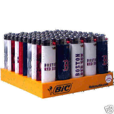BIC RED-SOX Lighters Display of 50