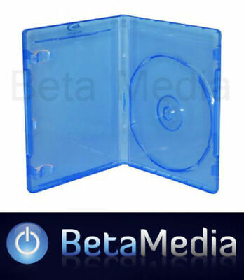 100 Blu ray Single 12mm Quality cases with logo - U.S Standard Size Bluray cover