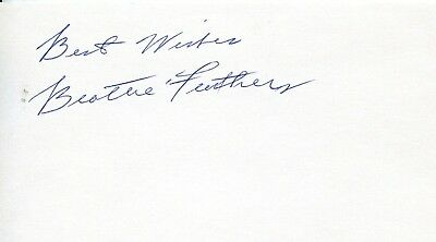 BEATTIE FEATHERS 1st NFL Thousand Yard Rusher: Autograph
