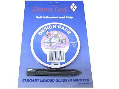 WINDOW LEAD 10Mtr FINEST QUALITY 'ORIGINAL' DECRALED (in 3 widths) + BONING PEG