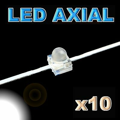 373/10#LED axial 1,8mm blanche 10pcs