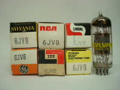 6Jv8 Tube. Mixed Brands. Nos / Nib. Rcb29