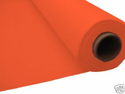 100ft ORANGE Plastic Banquet Roll Table Cover Buffet