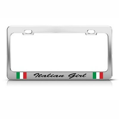 ITALIAN GIRL ITALY MOTORCYCLE License Plate Frame Tag Holder ...