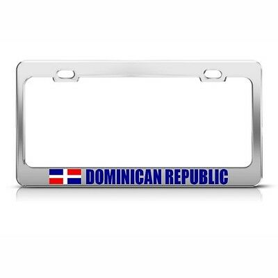 CZECH REPUBLIC FLAG Metal License Plate Frame Tag Holder Two Holes