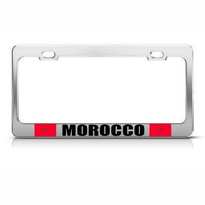 MOROCCO FLAG MOROCCAN COUNTRY Metal License Plate Frame Tag Holder