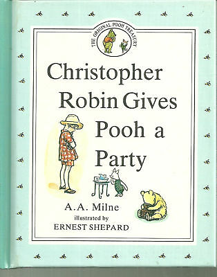 Christopher Robin Gives Pooh a Party- BP book edition Winnie the Pooh
