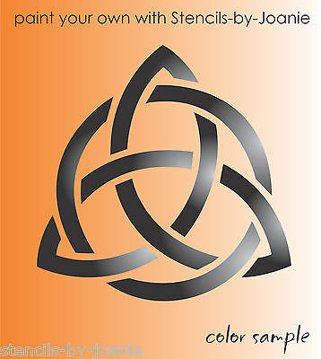 STENCIL Celtic Triquetra Trinity Witch Charmed Circle Irish Knot Shape Art Signs