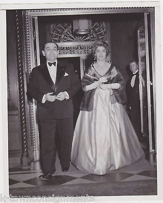 PIERRE MENDES FRANCE FRENCH PREMIER & WIFE PRESS PHOTO