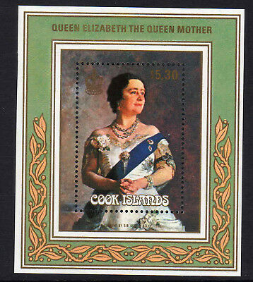 Cook Is.1985 Queen Mother M/sheet Ms 1039 Mnh.