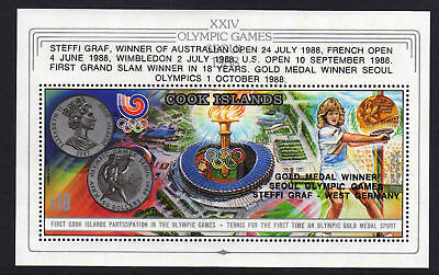 Cook Is.1988 Medal Winners M/sheet Ms 1207 Mnh.