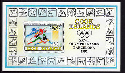 Cook Is.1992 Olympics M/sheet Ms 1310 Mnh.