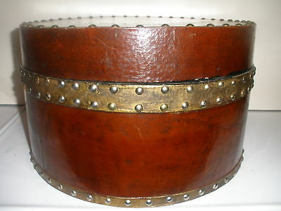 Antique Early Large Wood Decorated Art Crafts Round Box