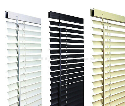 Pvc Venetian Blinds Window Blind In Black Cream White