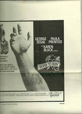 United Artists Catalogue of Ad Mats- BORN TO WIN