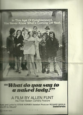 United Artists Catalogue of Ad Mats- Naked Lady (Funt)
