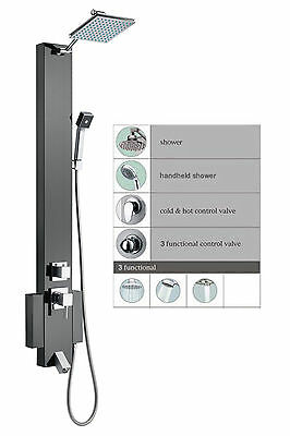 Stainless Steel Rainfall Shower Panel Tower Mutli Function Spa Bathtub Spout Spa