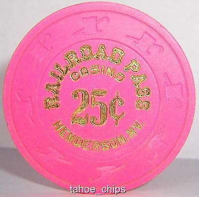 Railroad Pass Casino Chips Pink Henderson 25 Cent Chip