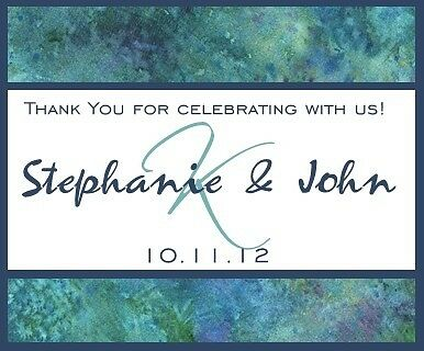 24 Personalized Wedding Peacock Colors Wine Labels