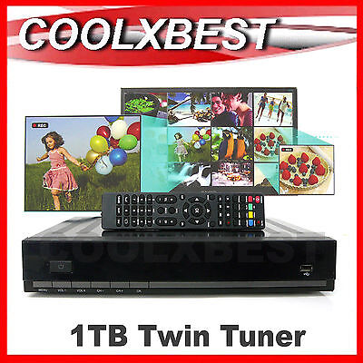 1Tb 1000Gb Hdd Pvr Twin Tuner Hd Digital Tv Recorder Usb Transfer Hdmi