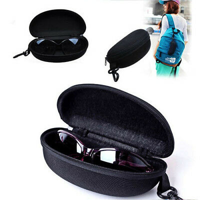 Black New Zipper Eye Glasses Sunglasses Hard Case Box Portable Protector Bag