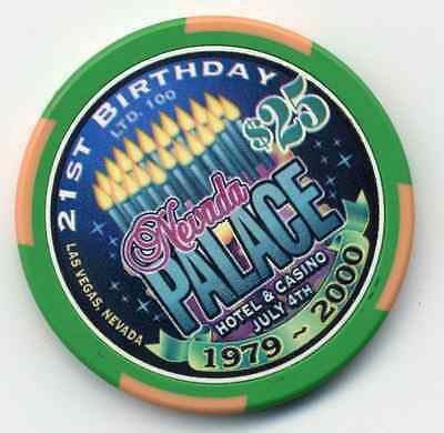 LAS VEGAS $25 NEVADA PALACE 21st BIRTHDAY   CHIP