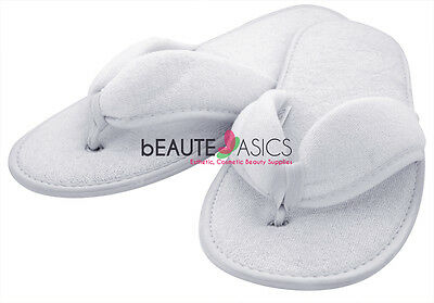 100 Pairs Terry Pedicure Sandal Slippers Spa Salon Party Wedding - #AS131x100