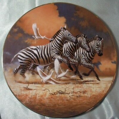 Royal Doulton England Pre2000 Under African Skies Running Free L/ed Pn192  Boxed