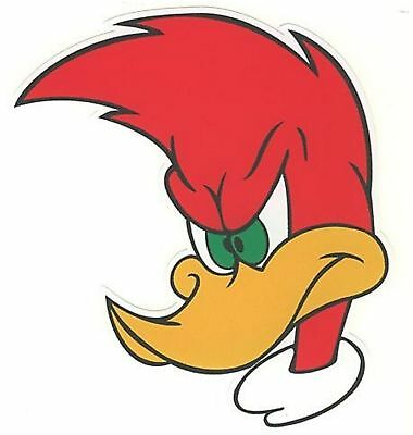 "Woody Woodpecker bumper sticker wall decor large vinyl decal, 10"" x 9"""