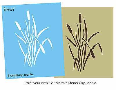 Cattail STENCIL Outdoor Camo Garden Hunting Rustic sign