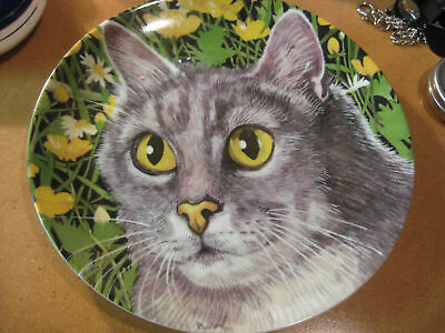 Kaiser W. Germany Golden Crown E&R Gray Cat Plate Jay