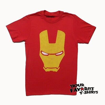 Iron Man Armored Avenger Helmet Marvel Comics Licensed Adult T Shirt
