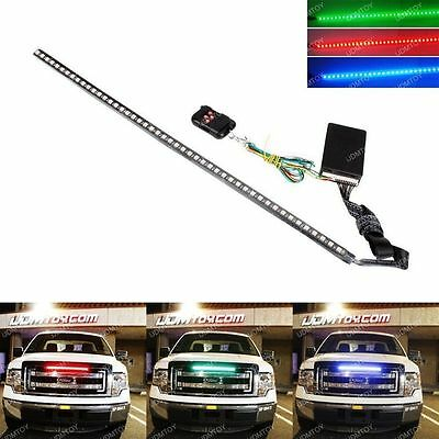 "24"" 7-Color LED Knight Rider Scanner Lighting Strip Kit w/ Remote Control"