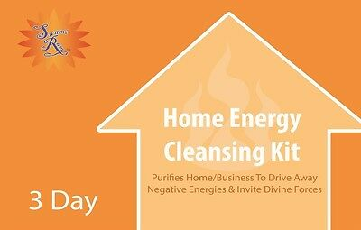 Home Energy Cleansing Kit 3 day SUPPLY REMOVE NEGATIVITY GHOSTS SPIRITS ETC