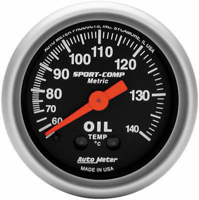 "Autometer Sport Comp 2-1/16"" Oil Temp Gauge Au3341M"