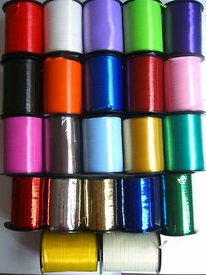 500m CURLING(Balloon)RIBBON 25 Colours {fixed £2 UK p&p} Craft Wedding Birthday