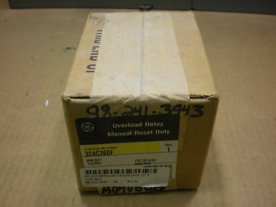 1 NIB GE 324C360F OVERLOAD RELAY MANUAL RESET ONLY